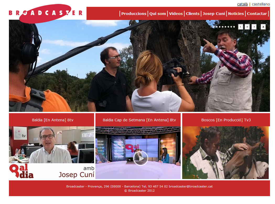 Web productora Broadcaster de Josep Cuní