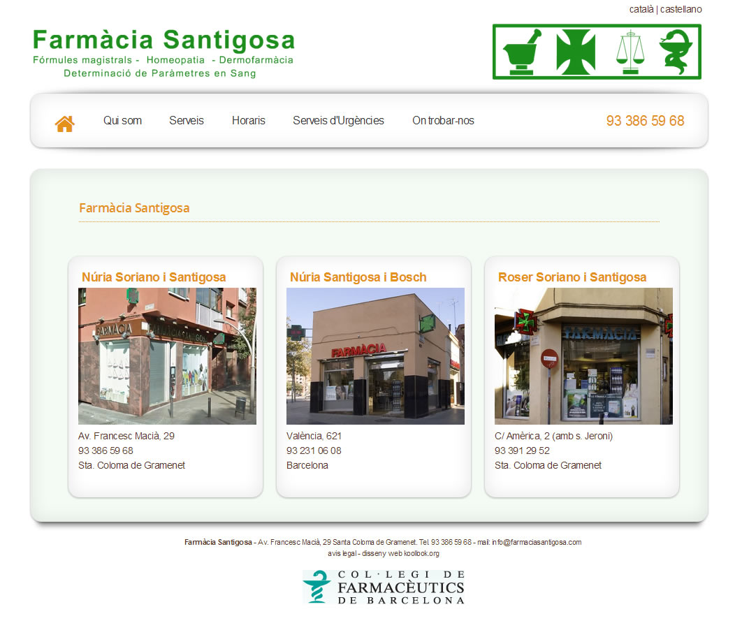 Farmàcia Santigosa V2.0