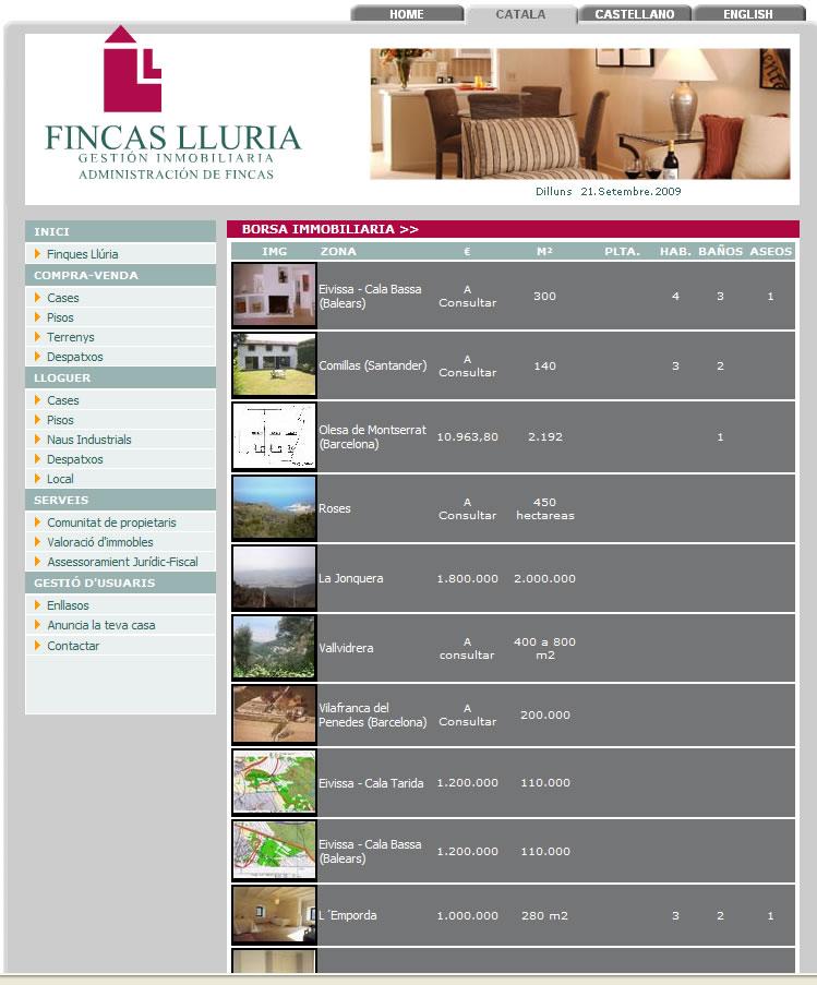 FINCAS LLURIA
