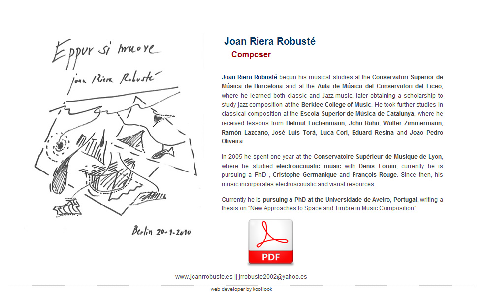 Joan Riera Robuste - Compositor