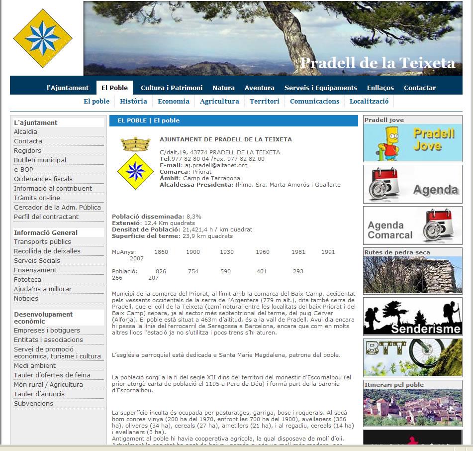 Ajuntament Pradell de la Teixeta